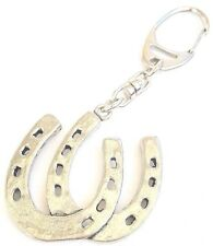 Horseshoes Handcrafted from Solid Pewter In the UK Key Ring