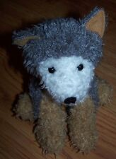 Bath and Body Works Sitting Plush Wolf Named Wolfe 7""