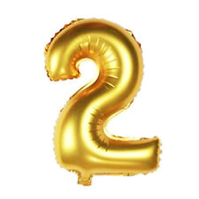 16 inch Gold Arabic Number Foil Balloons Birthday Wedding Party Number 2
