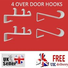 OVER DOOR HOOKS Hanger Clothes Hook Bathroom Towel Hanging Coat Holder Plastic