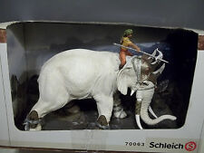 NEW SCHLEICH 70063 & 42079-FIGHTING ELEPHANT+NEW RIDER ATTACHMENT+EXTRAS