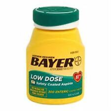 Bayer 81mg Enteric Low Dose Pain Relief Aspirin Tablets 300 ea (Pack of 5)
