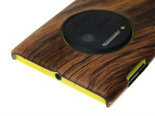 Back Cover Case Nokia Lumia 1020 Brown Wood Wooden Pattern + Screen Protector