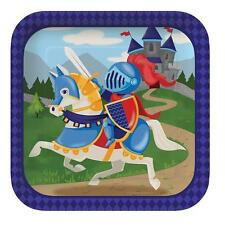 Medieval Prince Knights & Dragons Paper Party Lunch Plates x 8