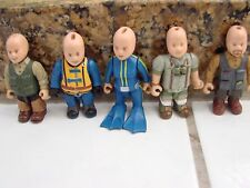 """Lot if 5 Mighty world Action Figures Bald Headed ,one girl Diver rare 2 3/4"""""""