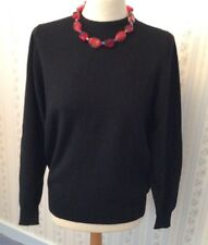 "Ladies Ballantyne Black Pure Cashmere Jumper - Size 40"" Bust - BNWT"