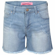 S01 New Women's Ladies Denim Ripped Shorts, Sizes 8 to 16