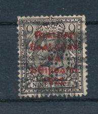 Sello de Irlanda 1922 9d carmín sobreimpresión montado Perfin