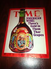 NOVEMBER 27TH 1972 TIME MAGAZINE AMERICA'S WINE THERE'S GOLD IN THEM THAR GRAPES