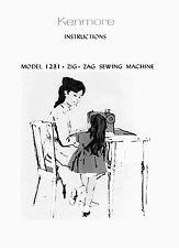 KENMORE Sears model 158. 1231 12310 12311 12312  Sewing Machine Manual on CD