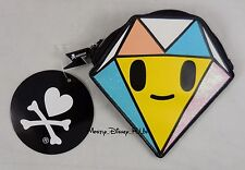 "New Tokidoki Diamante Diamond Shaped Coin Purse 5"" Zip Wallet"