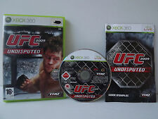 UFC 2009 Undisputed Game XBOX 360 Complete with record