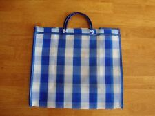 Reusable Shopping Bag Mexican REDE Mercado Blu White Screen Texture Keeps Fresh!