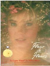 PUBLICITE ADVERTISING 095  1985  NINA RICCI  parfum FLEUR DE FLEUR  D. HAMILTON