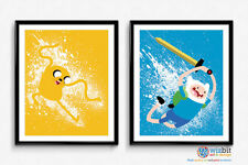 Jake & Finn Adventure Time Poster Art - Set of 2 x high quality prints