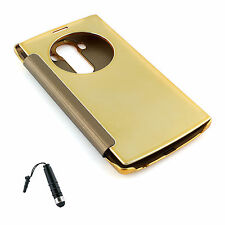 Quick Circle Smart Window View Mirror Effect Case Cover for LG G4 Gold +Stylus B