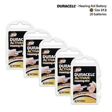 Hearing Aid Batteries Size: 312 by Duracell  Packs of 4 (20 Cells Total) Fresh