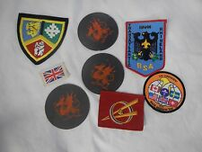 5 total include 1979 World Scout Jamboree UNITED KINGDOM / UK SCOUTS  Patch extr