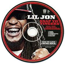 Lil Jon SNAP YO FINGERS Feat. E-40 & Sean Paul (YBZ) (Promo CD Single) (2006)