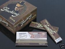 1 Box BROWN Smoking 110mm FINE QUALITY UNBLEACHED KING SIZE ROLLING PAPER #1078