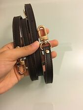 Crossbody Strap For Pochette Accessoire, Eva Clutch, Favorite Pm Mm In Chocolate