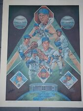 "1969 NY Mets Autographed Lithograph 28""X22"" With ""Yogi"""