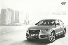 Audi Q5 Pricing and Specification Guide UK Market Brochure 2008 2009 48 Pages