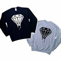 DRIPPING DIAMOND LOGO SWEATER JUMPER SWAG DOPE TOP HIPSTER TUMBLR SWEATSHIRT HIP