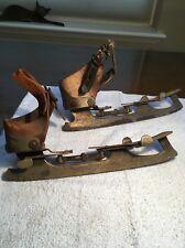 Antique Vintage Adjustable Strap On Ice Skates. SAML. WINSLOW SKATE MFG CO.