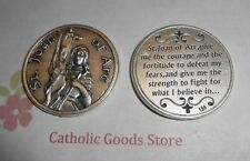 St. Joan of Arc - Prayer to Saint Joan of Arc - Pocket Coin