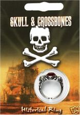 PIRATA GEM Anello Teschio e Ossa Incrociate Jolly Roger KIDS COSTUME CAPITAN JACK miliardi