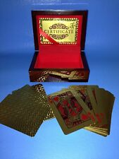 24K Karat Gold Plated Poker Playing Cards with Wooden  Box and Certificate