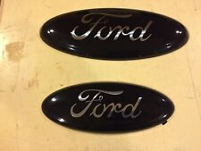 "2007-2010 FORD EDGE CUSTOM EMBLEM SET,GLOSS BLACK CHROME LOGO,NO DECALS,9"" & 7"""