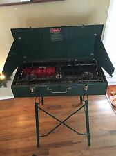 Vintage Coleman 426E 3 Burner Stove ~ Camping Cooking With Stand