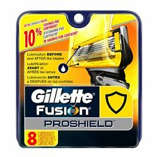 NEW Genuine Gillette Fusion Proshield Razor Blade Refills for Men, 8 Count