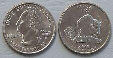 USA State Quarter 2005 Kansas D unz.