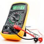 Digital Voltmeter Ammeter Ohmmeter Multimeter Volt AC DC Tester Meter XL-830L BS