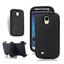 Samsung Galaxy S4 Defender Outer Case Screen Protector & Holster Fit Otterbox Bk