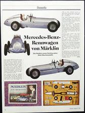 SAMMELN MÄRKLIN MERCEDES-BENZ RENNWAGEN REPLIKA.... ein Modellbericht