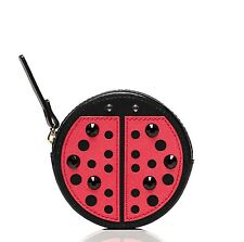 Kate Spade Ladybug Turn Over a New Leaf Coin Purse Wallet Black/Geranm NWT