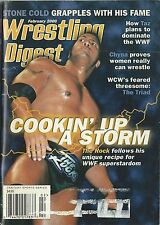 The Rock Wrestling Digest Magazine February 2000 WWF WWE WCW Dwayne Johnson