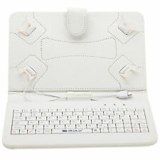 "PU Leather Stand Micro USB Keyboard Case Cover For 7"" inch Tablet PC New"