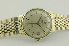 "OMEGA SEAMASTER DEVILLE AUTOMATIC "".585"" SOLID 14K GOLD & S/S WW c1964,.166.020."