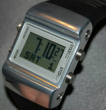Rare! NEW Nike Sledge Press Mettle Watch WC0038 Black/Silver NEW BATTERY!