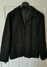 F&F Mens S Charcoal Grey 80% Wool Zipped Smart Jacket Inner Pocket