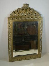 Antique Reticulated Brass Bevelled Mirror