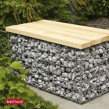 Bellissa Gartenbank Gabione L105 x B50 x H54cm Sitzbank aus Douglasienholz 97152