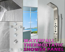 879 STAINLESS STEEL INOX WATERFALL THERMOSTATIC Shower Panel column tower NEW !!