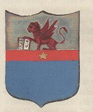 1865 Stemma di Montagnana (araldica civica), Padova  litografia