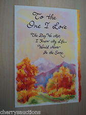 To the One I love engagement anniversary Blue Mountain Arts GREETING CARD